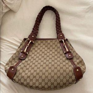 Authentic Gucci handbag brown large